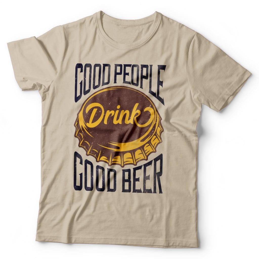 Beer cap t shirt designs for merch teespring and printful