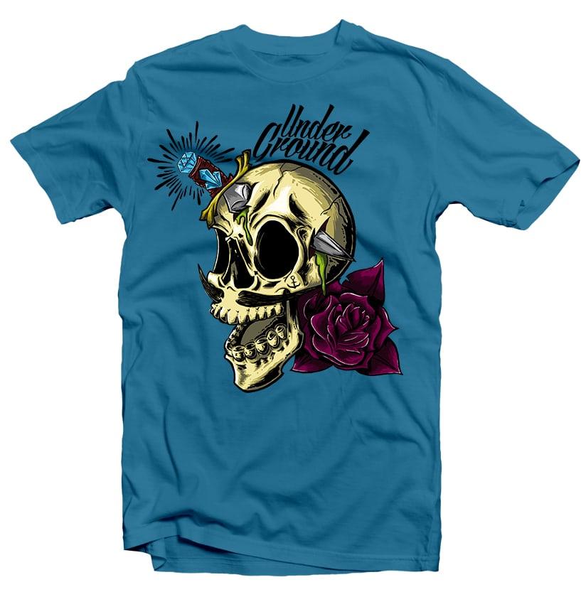 Skull Underground vector t shirt design
