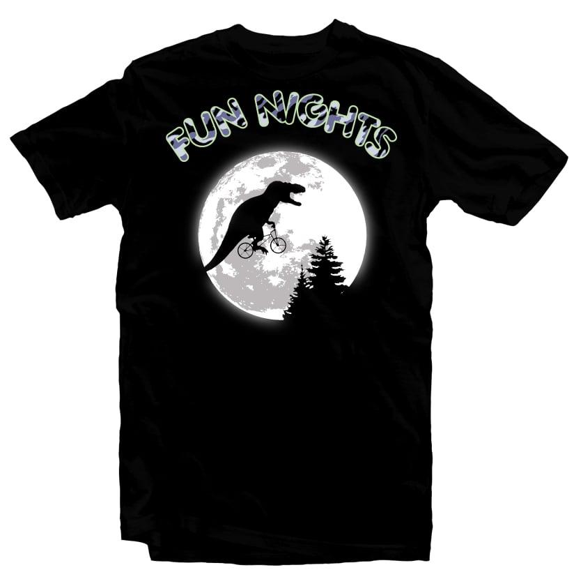 Fun Nights T-Rex buy t shirt design