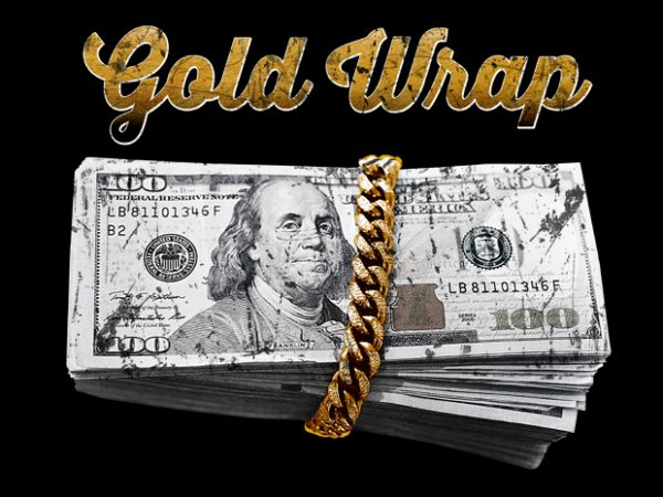 Gold Wrap t shirt design for sale