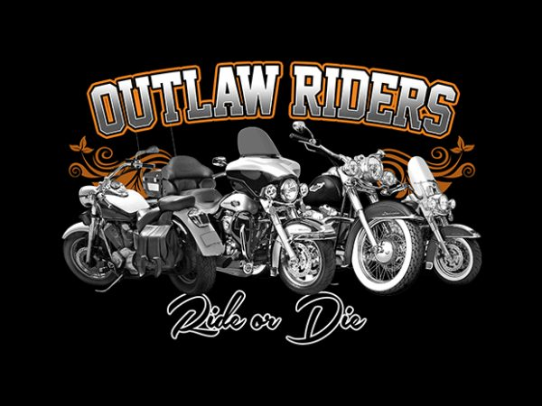 Outlaw Riders t shirt design online