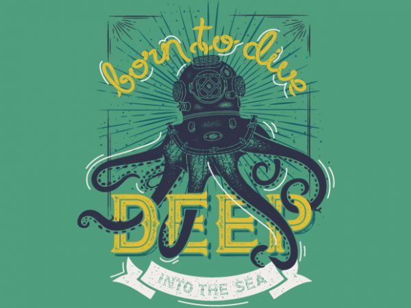 Born to Dive t shirt template