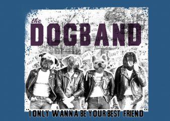 Dogband t shirt vector illustration