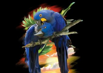 Blue Macaw t shirt design to buy