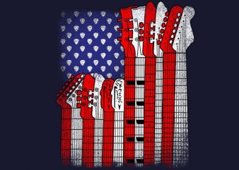 Flag Usa Guitars buy t shirt design artwork