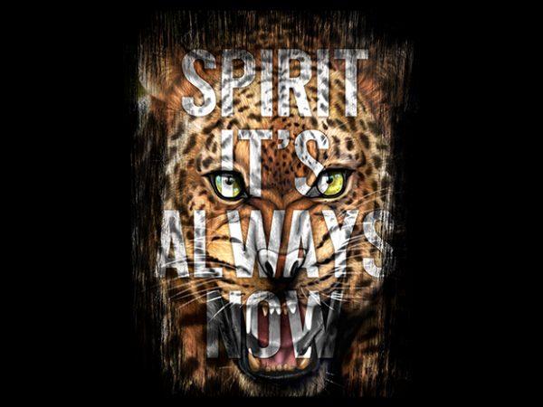 Spirit Leopard Head t shirt template vector