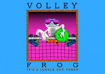 Volley Frog t-shirt design png