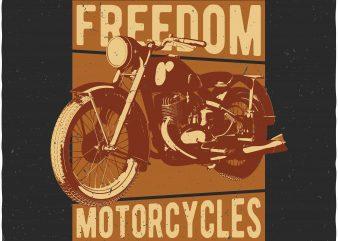 Motorcycle tshirt design vector