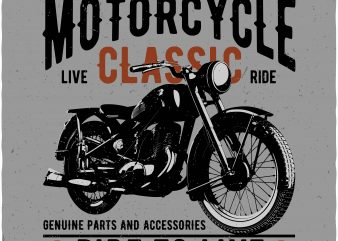 Motorcycle t shirt design for sale
