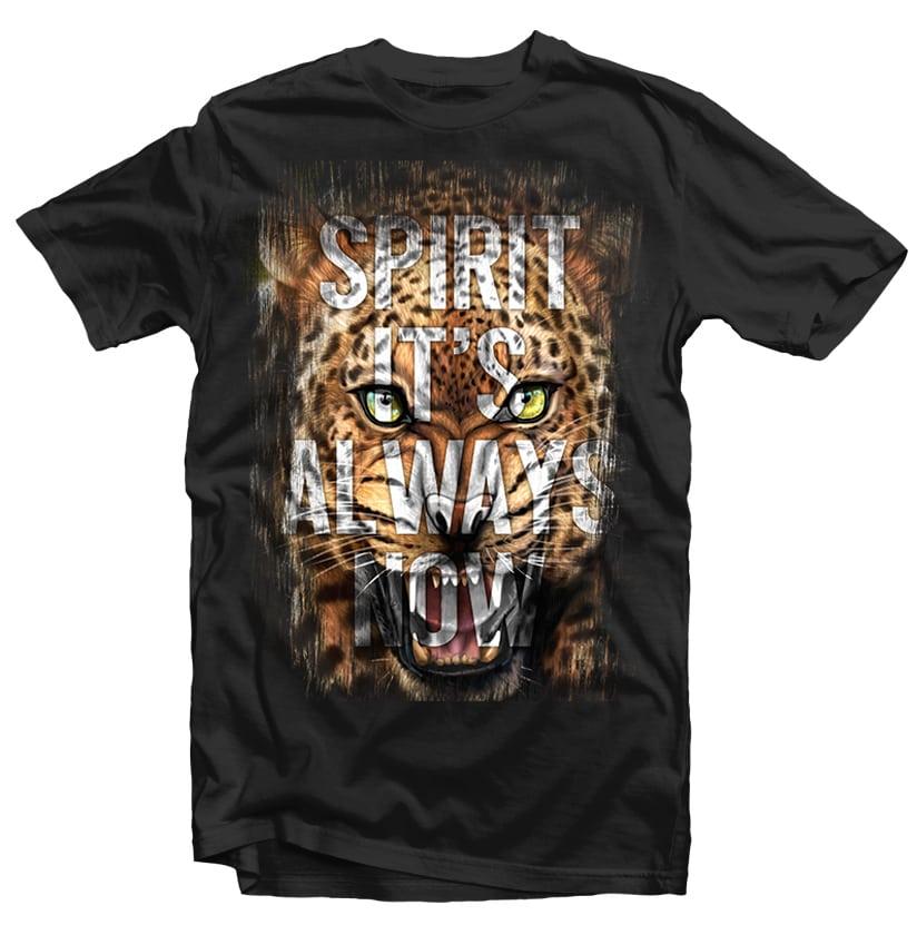 Spirit Leopard Head tshirt design for merch by amazon