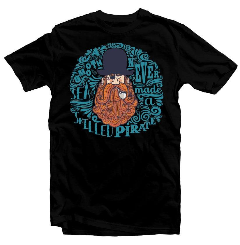 Pirate t shirt designs for merch teespring and printful