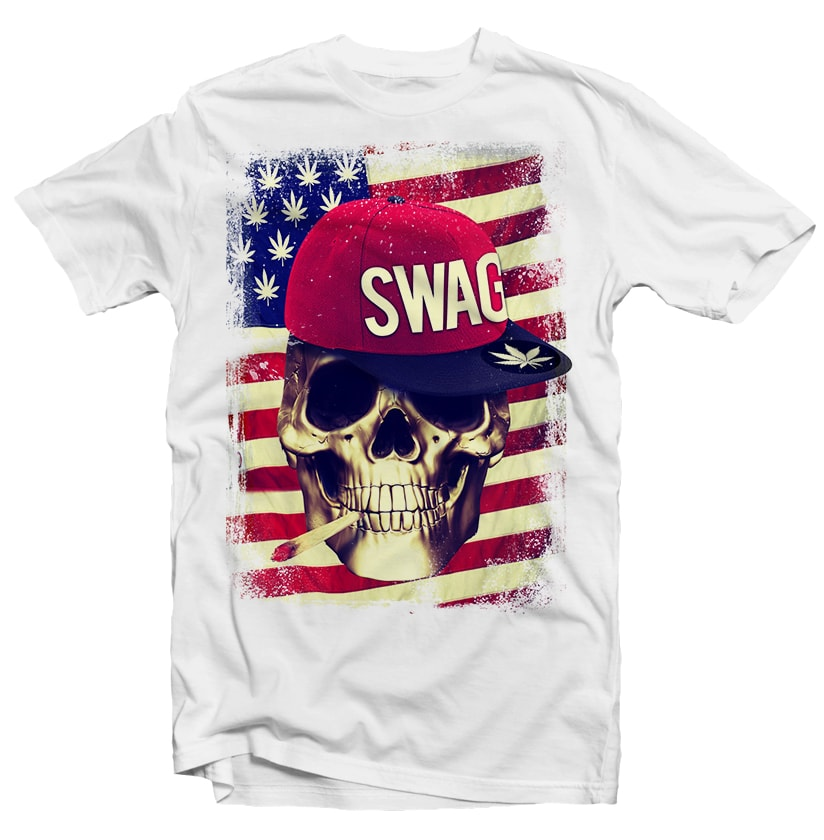 Swag Skull commercial use t shirt designs