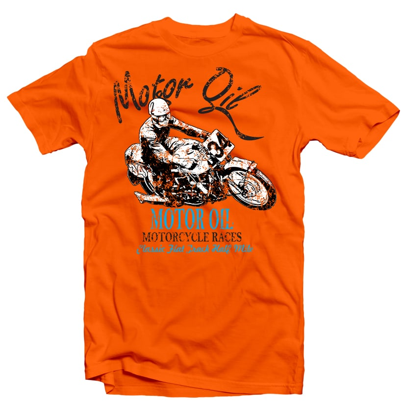 Motor oil Racer tshirt design for merch by amazon