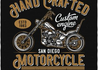 Hand crafted motorcycle buy t shirt design