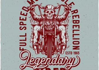 legendary rider graphic t-shirt design