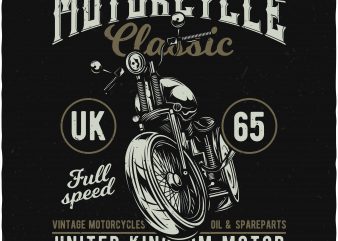 Classic Motorcycle commercial use t-shirt design