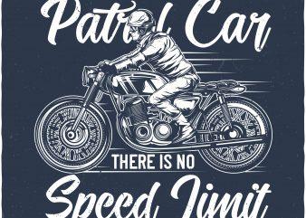 Speed limit t shirt template vector