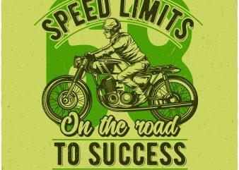 Speed limits t shirt template vector