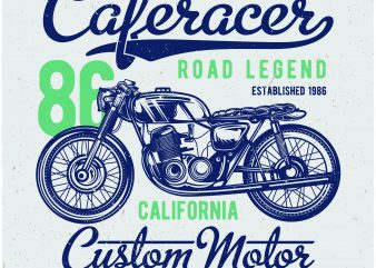 Caferacer commercial use t-shirt design