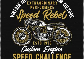 Speed Challenge t shirt template vector
