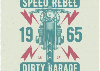 Dirty garage vector t-shirt design template