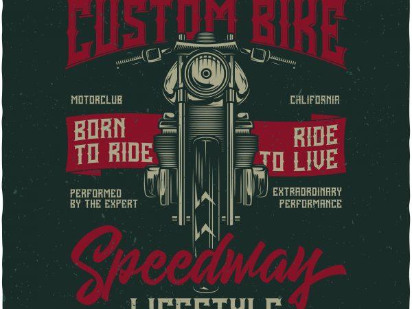 Custom Bike vector t shirt design artwork