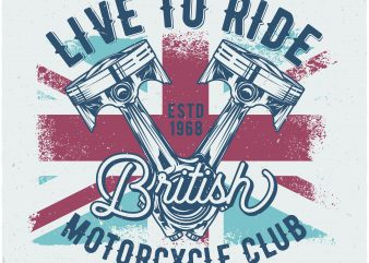 British motorcycles tshirt design for sale