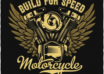Motorcycle engine tshirt design for sale