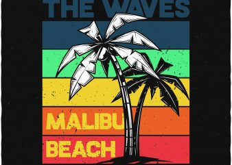 Ride the waves buy t shirt design for commercial use