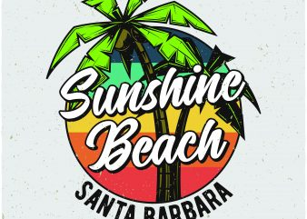Sunshine Beach design for t shirt
