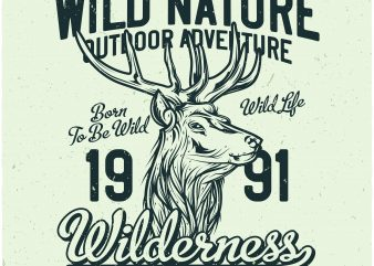 Wilderness t shirt design for purchase
