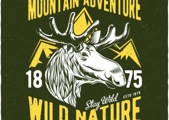 Wild nature tshirt design for sale