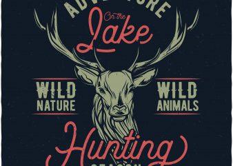 Hunting season vector t-shirt design