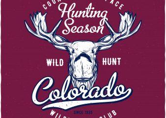 Hunting season graphic t shirt