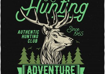 Hunting adventure t shirt design for purchase