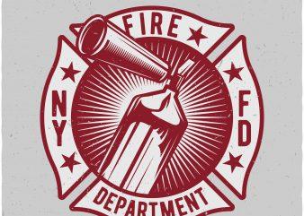Fire dept buy t shirt design