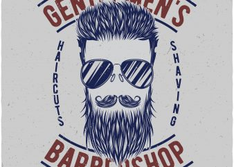 Barbershop tshirt design for sale
