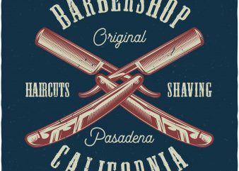 Barbershop t shirt design for purchase