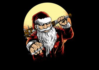 bad santa vector t-shirt design for commercial use