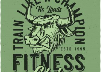 Fitness club vector shirt design