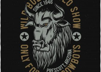 Rodeo vector t shirt design for download
