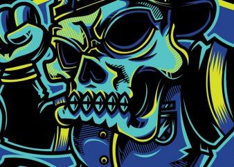 SWG Urban Skull tshirt design vector