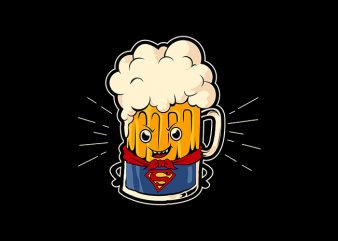 superbeer graphic t-shirt design