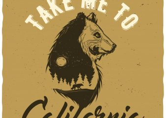 Take me to California t shirt designs for sale
