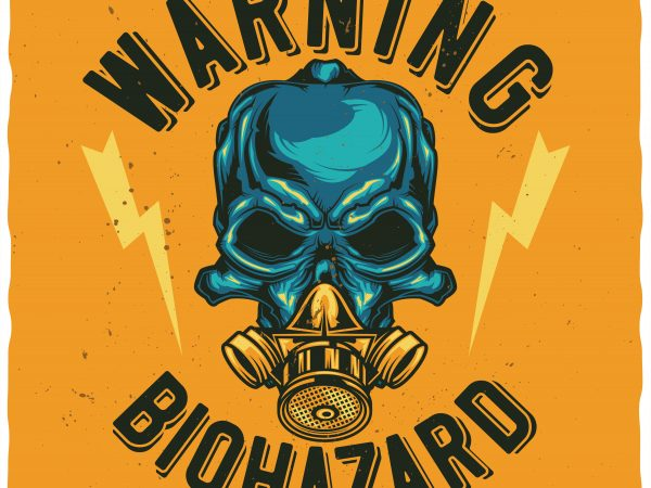 Biohazard buy t shirt design for commercial use