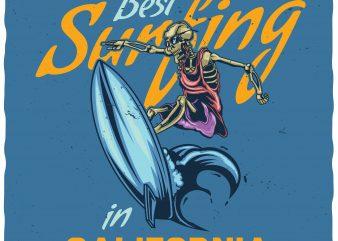 Best surfing t shirt design png