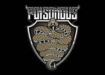 poisonous bite vector t shirt design for download