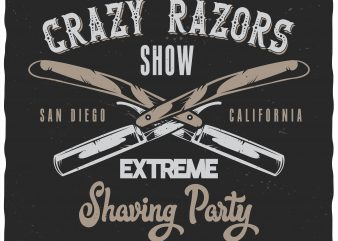 Extreme shaving party vector t shirt design artwork