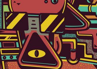Hippie tshirt design vector