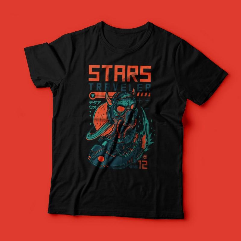 Star Traveller buy t shirt designs artwork